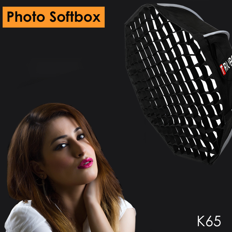 Triopo 65cm Studio Portable Softbox W/ Honeycomb Outdoor Bowens Mount Octagon Umbrella Video Photography Soft Box For Godox