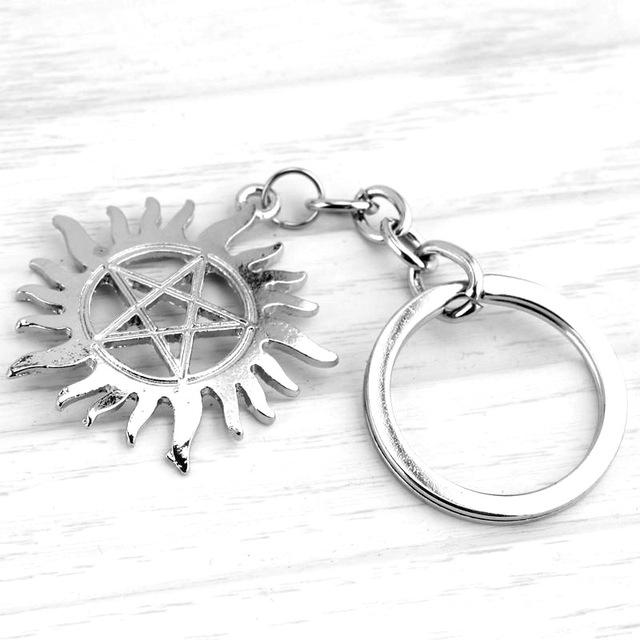 Supernatural Sun Pendant Key Chain