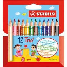 Цветные карандаши Stabilo Trio 12 цветов