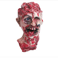 Horror Head Mask Rotten Zombie Skull Joke Prank Toy Latex Scary Halloween Props