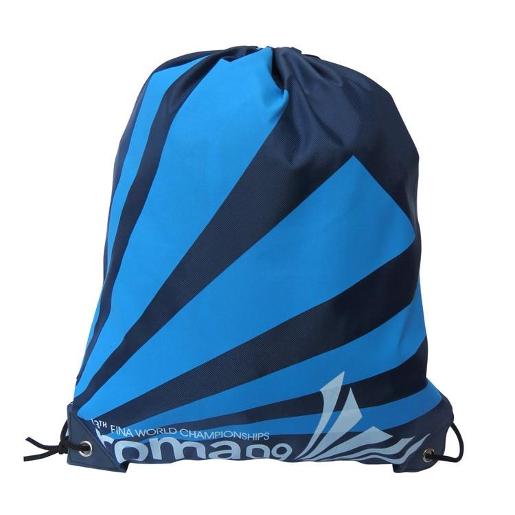Waterproof Swimming Backpack Double Layer Drawstring Backpack Shoes Bag Shoulder Bag Outdoor Sport Travel Portable Bag 34*42 Cm