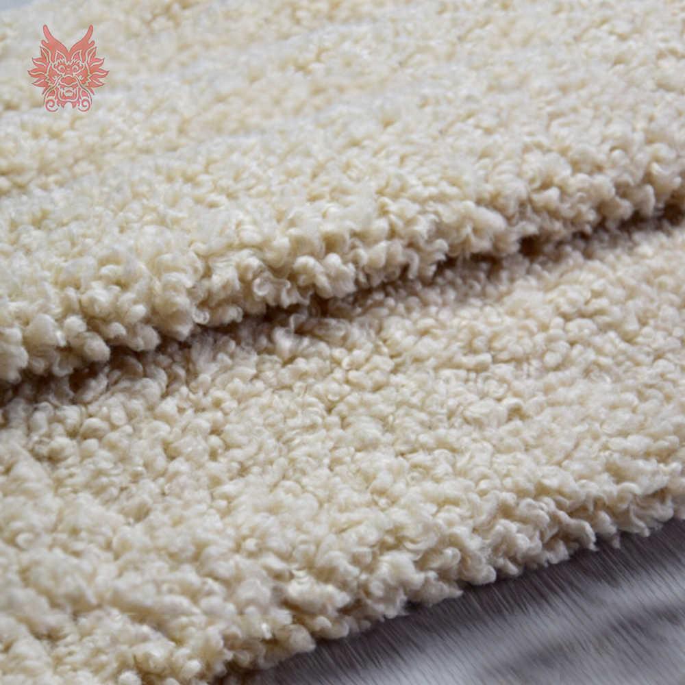 Multi color sólido pesado mullido faux curled lana piel tejido fotográfico recién nacido tela DIY accesorios 160*50 cm SP5425