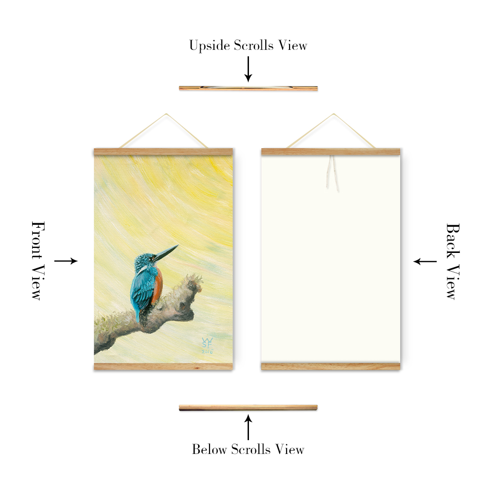 Cute Animal Green Hope Bird Decoration Wall Art Pictures Canvas ...