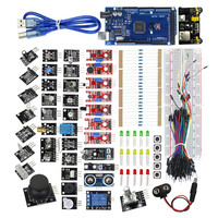 Free Shipping New 37in1 Sensor Kit Mega 2560 R3 HC SR04 MB 102 MB102 Test Develop