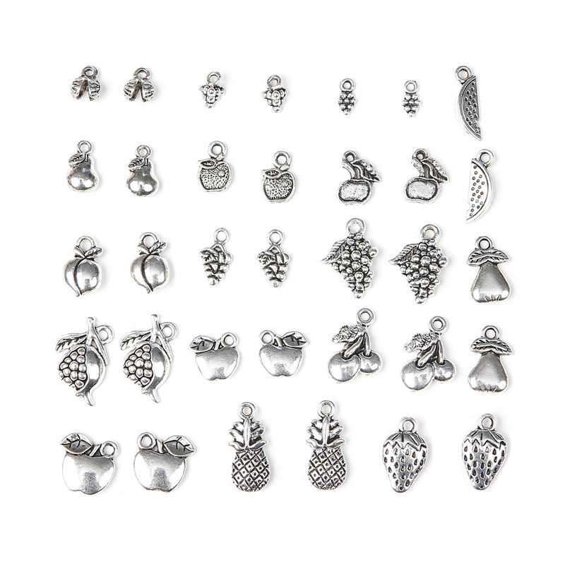 50Pcs Bulk Mixed Tibetan Silver Charms Ocean Pendants Beads DIY Jewelry Findings