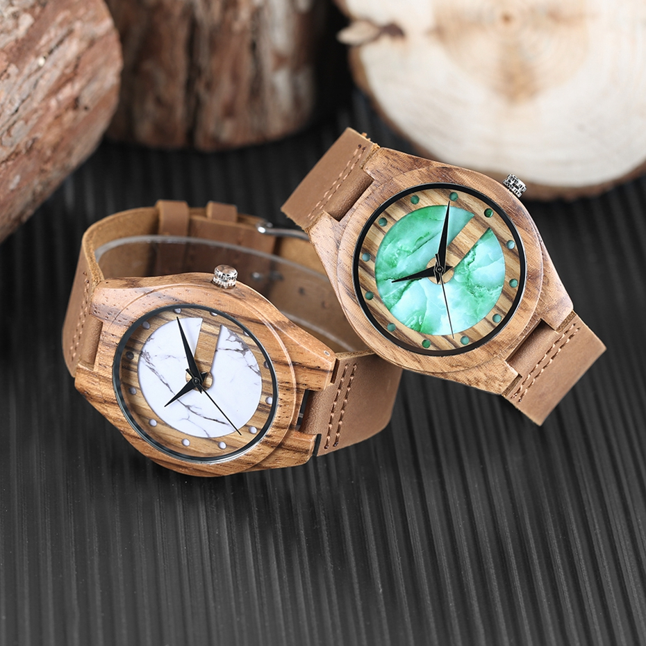 Unique Letter C Shape Luxury Green Marble Dial Men's Watch Genuine Leather Wooden Watches Quartz Watches Men Relogio Masculino Gifts (23)
