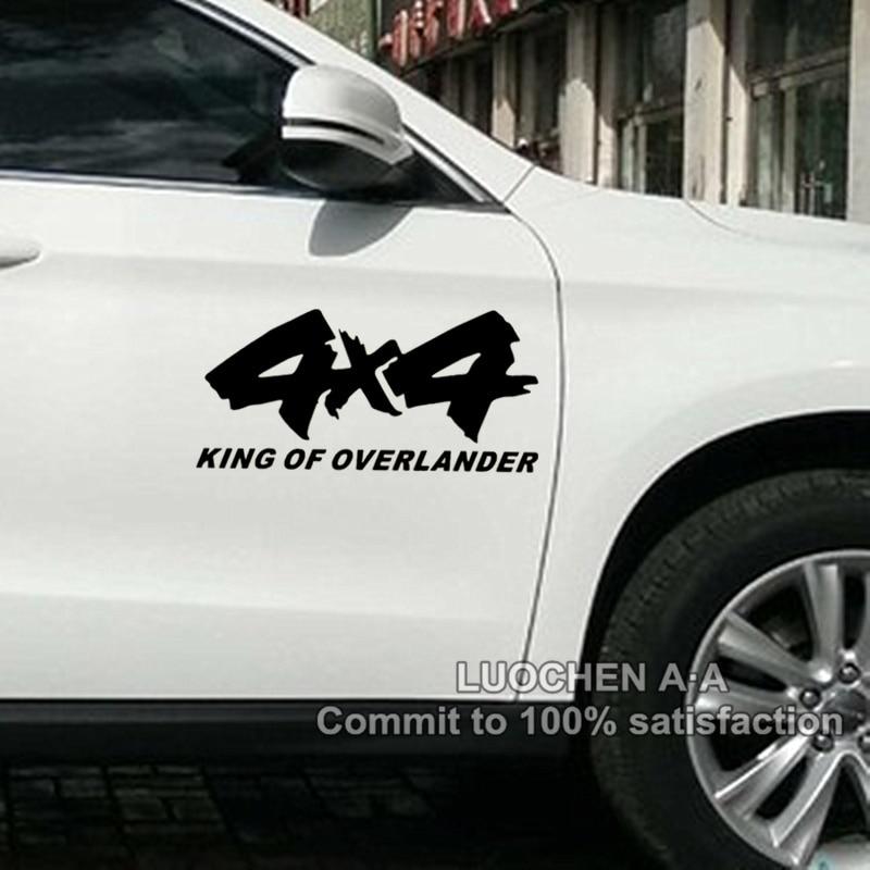 Наклейки на авто Король 4х4 Овэлэндер для 4WD внедорожник наклейки авто Тюнинг стайлинг Cyter Водонепроницаемый 26*12см & 50*24см Д10