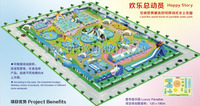 Giant Inflatable Water Park Best Quality Inflatable Water Slide Good Price HZ E001