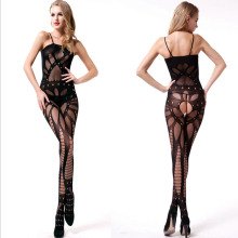 Sexy Lingerie Lace Temptation Perspective Sexy Sling Hollow Out Transparent Tight Costume Strap Siamese Women Sex Products