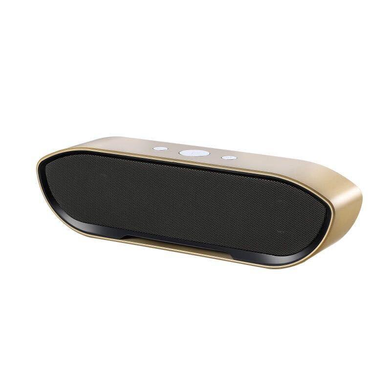 Fashion metal steel Bluetooth speaker mini radio FM AUX stereo bass TF altavoz portatil enceinte bluetooth portable puissant new