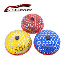 SPEEDWOW 80mm okrągły grzyb samochodowy oczyszczacz filtra powietrza wlotu Super Power Flow uniwersalny filtr wlotu powietrza
