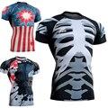 Базовые Слои Мужчины С Коротким Рукавом Tee Shirt Одежда Сжатия Рубашка Всего Тела 3D Печати Фитнес Crossfit Топы