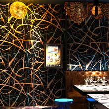 Black Gold Foil Wallpapers Home Decor Ins 3D Personalized Wall Paper Fasion Abstract WallPaper for Bar Coffee Background