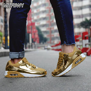 835b290097 a668s men sports shoes 36-46 Men Adults sneakers golden Running shoes