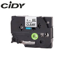 CIDY 1pcs TZ121 TZ 121 TZe121 TZe 121 Laminated Strong Adhesive tze-121 Label Tape P Touch black on clear Compatible For Brother(China)