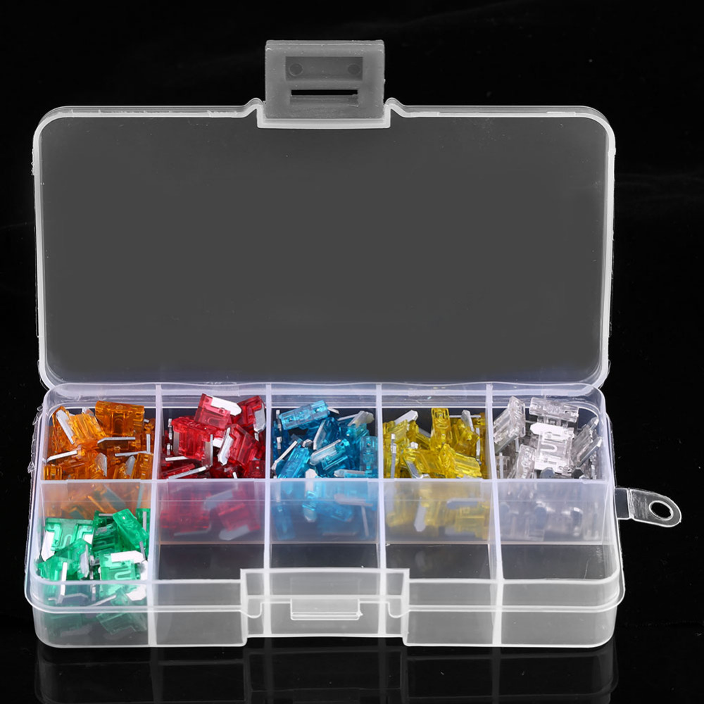New 120Pcs Car Auto Truck SUV Blade Fuse Box Kit Assortment Mini Blade Fuse Set Kit For 5A 10A 15A 20A 25A 30A standard 120pcs set auto automotive car boat truck blade fuse box assortment 5a 10a 15a 20a 25a 30a power tool accessories