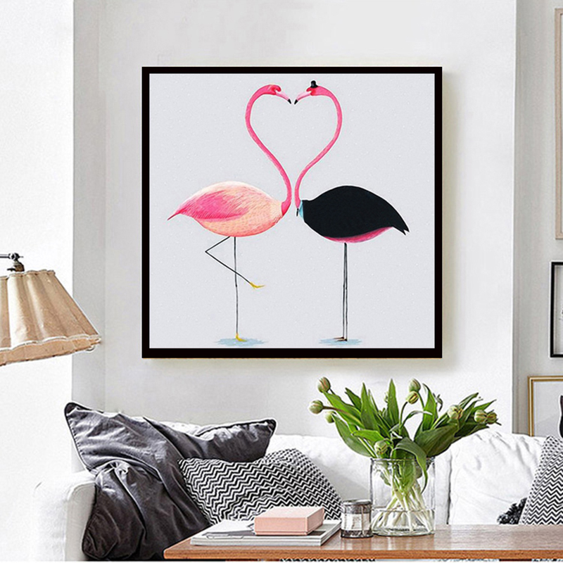 5d Diy Diamond Painting Animal  flamingos Full Square Cross Stitch Embroidery Mosaic Home Decoration