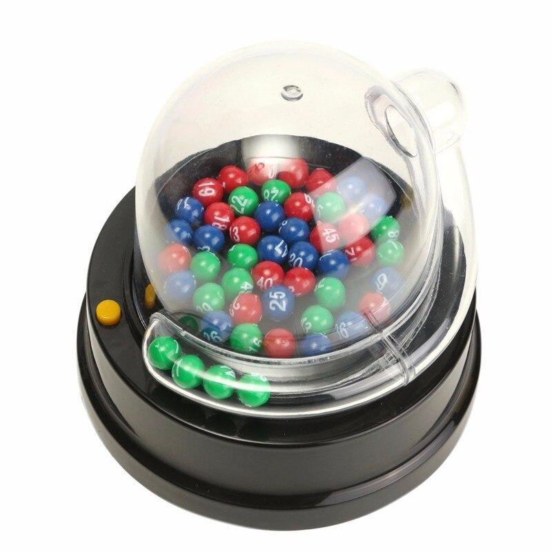 Heißer Verkauf Gesellschaftsspiele Elektrische Glückszahl Kommissionierung Maschine Mini Lotterie Bingo Spiele Schütteln Glück Ball Unterhaltung Brettspiel