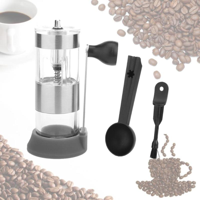 Stainless Steel Manual Coffee Grinder Adjustable Ceramic Burr Coffee Beans Grinding Machine Coffee Mill Grinder Tools fimei multifunctional manual coffee grinder vacuum cup portable stainless steel funnel filter ceramic grinding mechanism