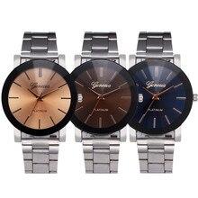 Luxury Woman Watches Brand 2017 New Stainless Steel Diamond Dress Women Crystal Quartz Men Watch Wristwatch Elegant Lady Clock 1