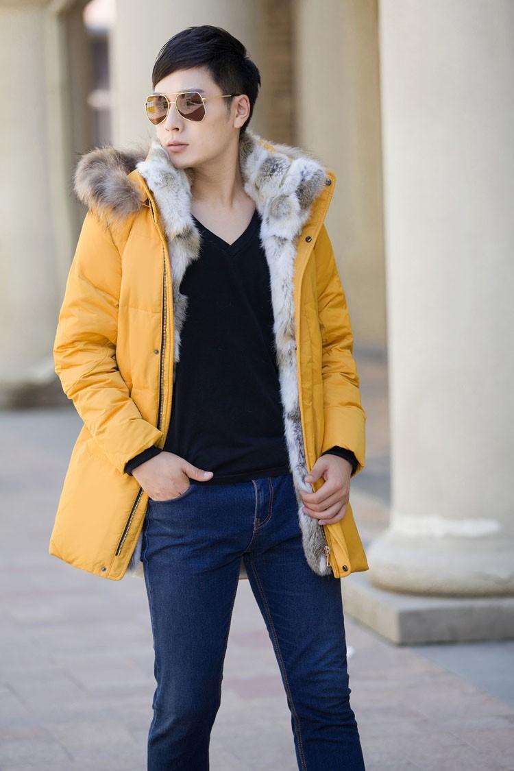 Winter Down Jacket Men Fur Parka Fashion Casual Thicken Warm Fur collar Hooded Men Women jacket&coat couple Down Jacket S-5XL (21)