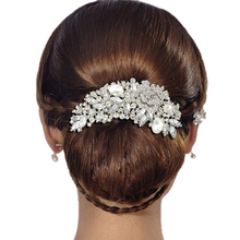 BELLA Fashion 2 Colors Flower Rhinestone Bridal Hair Comb Pin Clear Austrian Crystal Wedding Hair Accessories Jewelry Women Gift