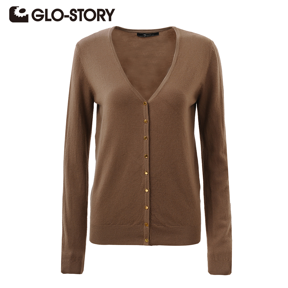GLO-STORY Women Sweater Cardigans 2016 Lady Autumn Winter Knitted ...