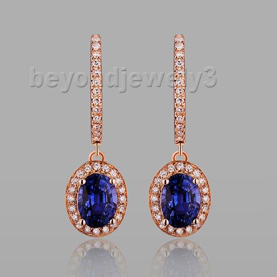Style Diamond Tanzanite Earrings Hl103 2