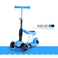 Children Swing Bike Car Bicicleta Scooter Toys Flash Wheels Outdoor Kid Baby Seat Slide Ride On Toy Adjustable Height