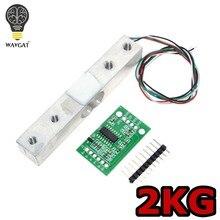 Capteur de poids de cellule de charge numérique WAVGAT balance de cuisine électronique Portable 2KG + capteur de pesage HX711 Module publicitaire