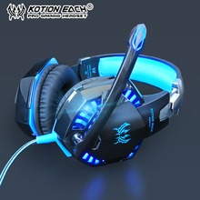KOTION EACH PS4 Gaming Headset Earphones bass Stereo Gaming Headphones Wired Game Casque with Microphone for PC Laptop xbox one newst n3 big gaming headset 3 5mm bass computer game headphones with microphone switch casque for pc gamer ps4 xbox phone gaming