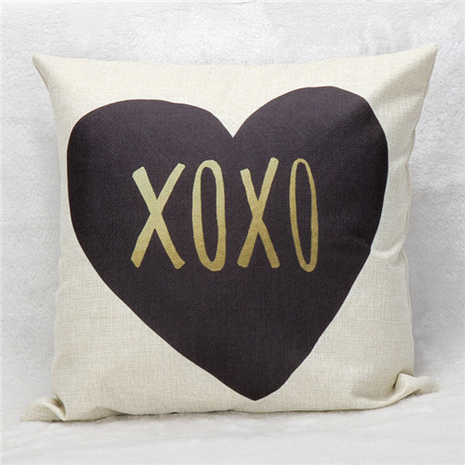 LOVE XOXO Fashion letter linen Throw Pillow Cases Home Decorative Cushion Cover Square  42cmX42cm HG056-27
