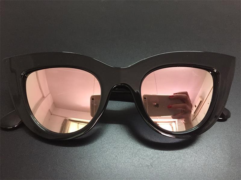 HTB12L 9RFXXXXcNXVXXq6xXFXXXN - Women's cat eye sunglasses ladies Plastic Shades quay eyewear brand designer black pink sunglasses PTC 221