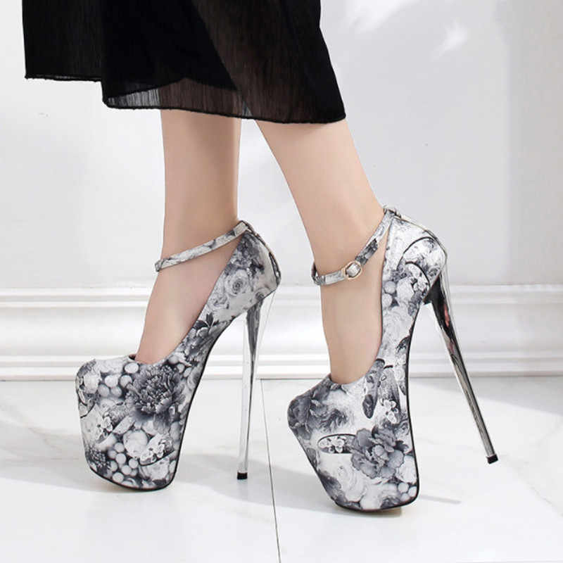 bd65b56863 2019 New Extremely High Heels 19cm Fashion Wedding Shoes Woman Pumps ...