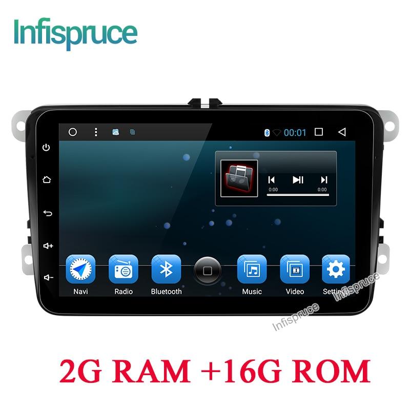 imágenes para Infispruce 2G RAM Android 6.0 DVD Del Coche para VW Volkswagen SKODA GOLF 5 Golf 6 POLO PASSAT CC JETTA TIGUAN B7 T5 coche gps estéreo