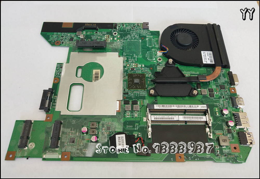 New for Lenovo B575 B575E Laptop LMotherboard with <font><b>E300</b></font> E350 cpu and heatsink 11S11014136 554PN01241 48.4PN01.011 11S11013664 image