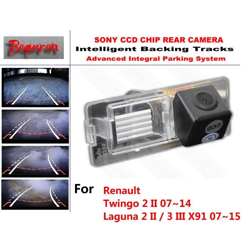 for Renault Twingo 2 II Laguna 2 II /3 III X91 CCD Car Backup Parking Camera Intelligent Tracks Dynamic Guidance Rear ViewCamera беговая дорожка winner oxygen laguna ii laguna ii ml