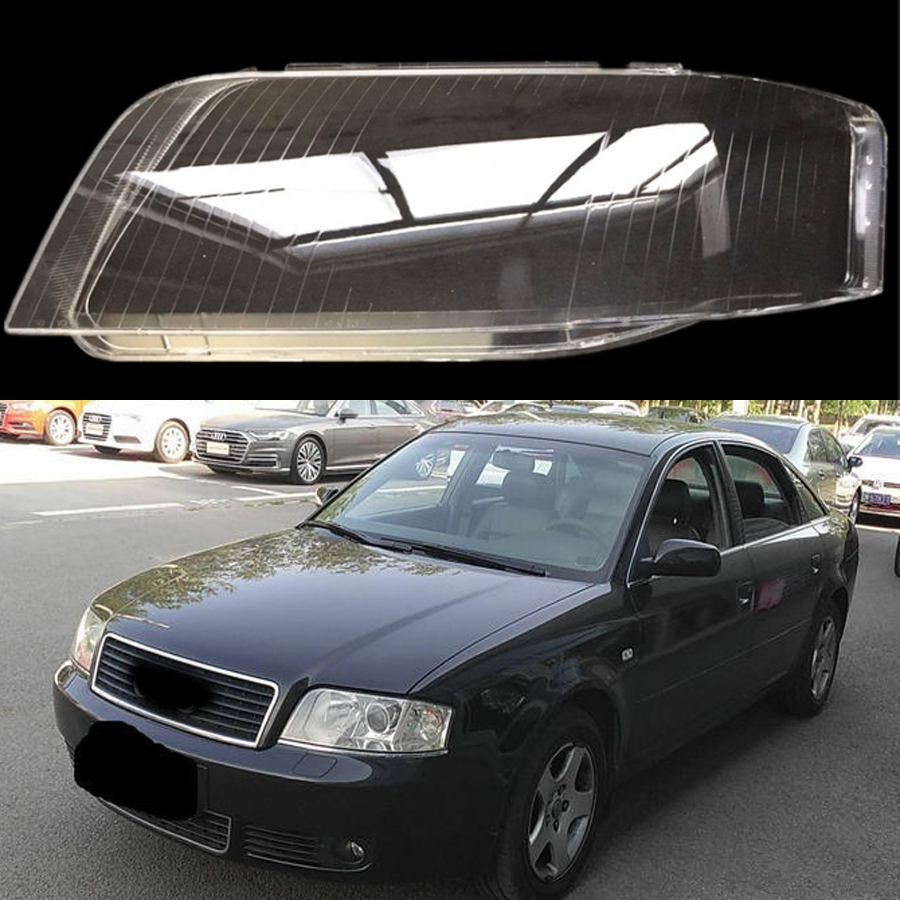 for Audi A6 C5 2003 2005 front headlight lens Headlight cover lens protection transparent plastic cover
