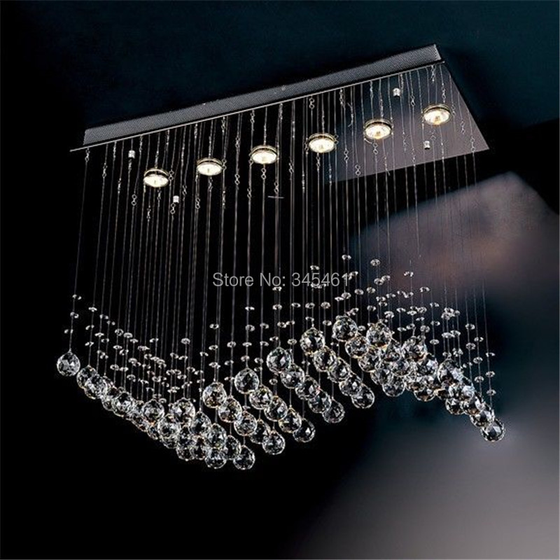 Chandelier Curtains: Contemporary Most Popular Crystal Chandeliers Crystal Wave Chandelier  curtain wave 6 Hanging lights L750*W300,Lighting
