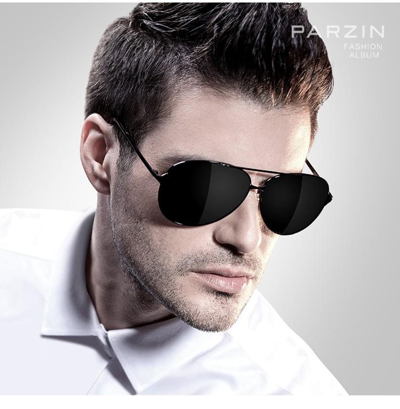 Compre PARZIN Aviação Clássica Óculos De Sol Dos Homens HD ... 5b237fe1f9