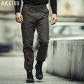 AK Marca DEL CLUB Pantalones Misión Imposible Pantalones Gruesos Pantalones de Estilo Militar de Lona de Algodón Pantalones Rectos Pantalones de Los Hombres Ocasionales 1512105
