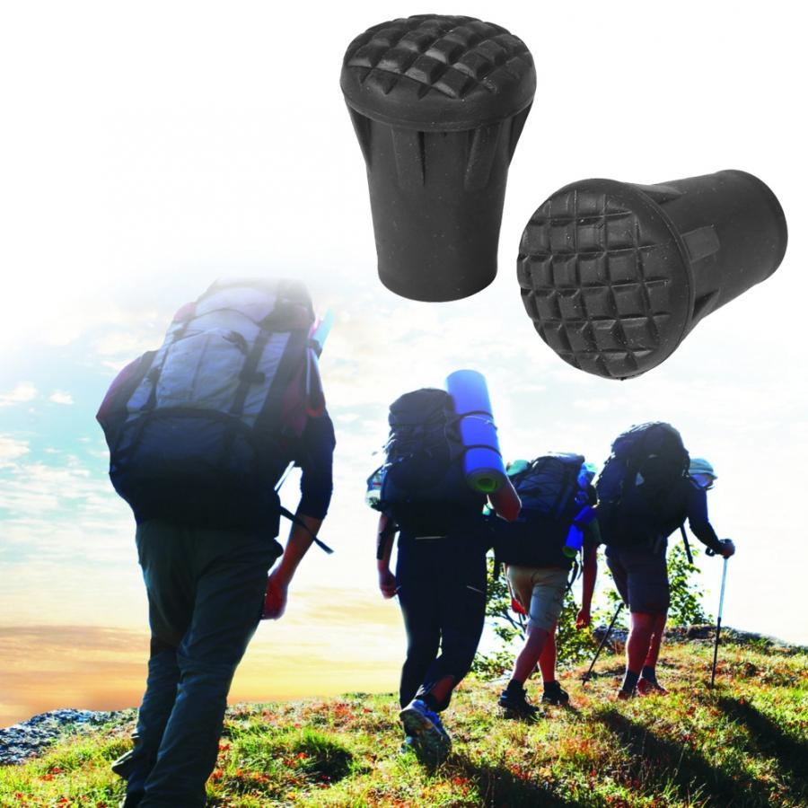 6X Nordic Walking Trekking Hiking Ferrule Pole Stick Pads Tips Spare Rubber New