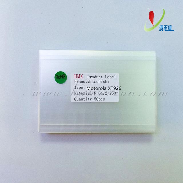50x 250um OCA óptica clara pegamento adhesivo película pegatina de doble cara para Motorola XT926 LCD reparación de la pantalla táctil de la máquina laminadora