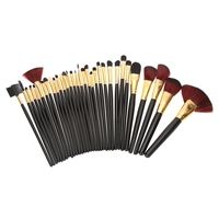 32pcs Professional Cosmetic Makeup Tool Brush Powder Foundation Eyeshadow Blush Concealer Highlight Bronzer Contour Brushes