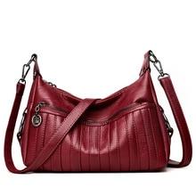 2019 Fashion Soft Leather Crossbody Bags for Women Messenger Female Shoulder Handbags Famous Brands Sac Femme