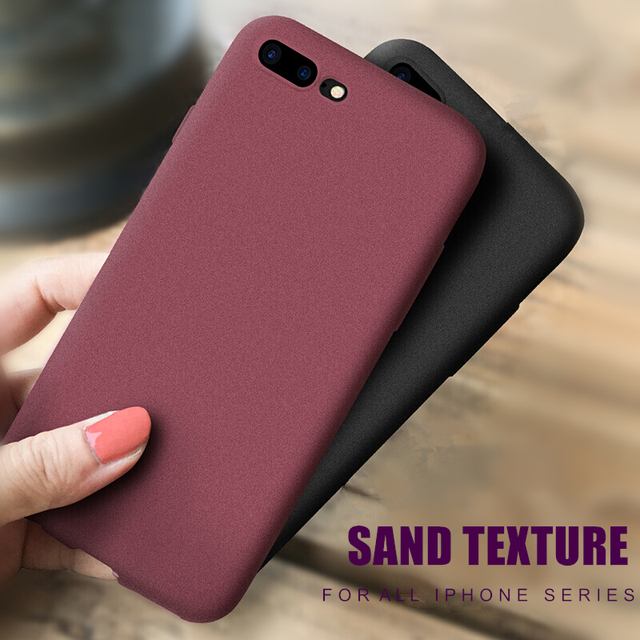 Gurioo Mobile Case Ultra-Thin Sandstone Case Back Cover Soft Cover Scrub Cover For iPhone 6 6S 7 8 X-XR XS Max Plus phone case