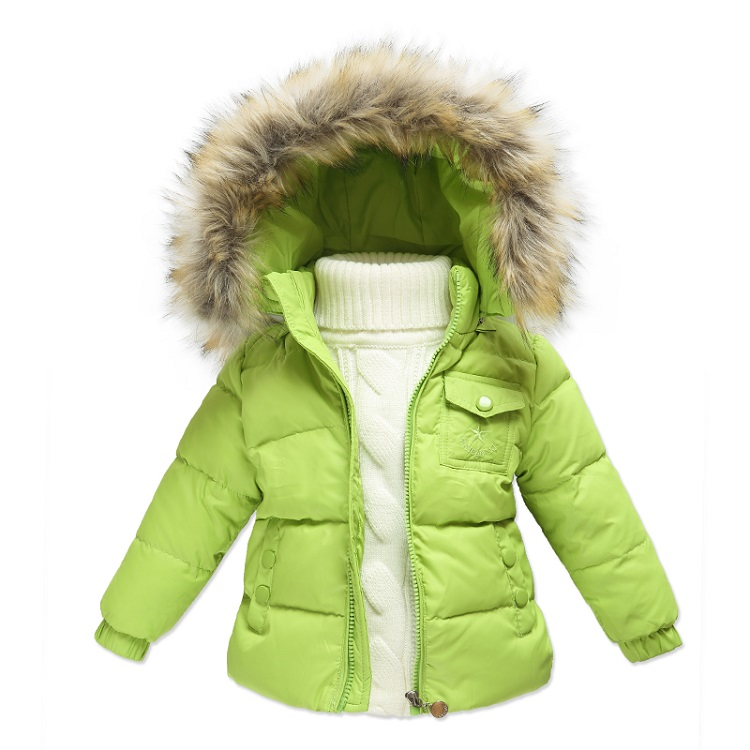 b2f1e1b69 Children Winter Down Jacket Boys Warm Outerwear Coats Girls Clothing ...