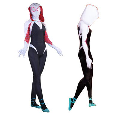 Spider Gwen for Halloween Cosplay Female Spider Suit Anti-Venom Gwen woman 3D Print Stacy Spandex Lycra Zentai Spiderman Costume