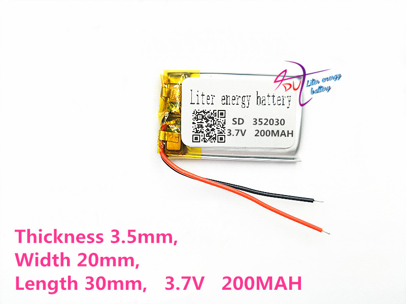 Liter energy battery NOKIA BH-111 BH-214 Bluetooth headset battery 352030 200MAH lithium battery MP4 MP3 small toys best battery brand 1pcs free shipping lithium battery 3 7v bluetooth headset battery 031220 301220 70mah mp3 mp4 small toys ba