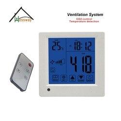 Temperatura  czas wyświetlacz kontroler jakości CO2 regulacji 350-1500ppm do zdalnego sterowania